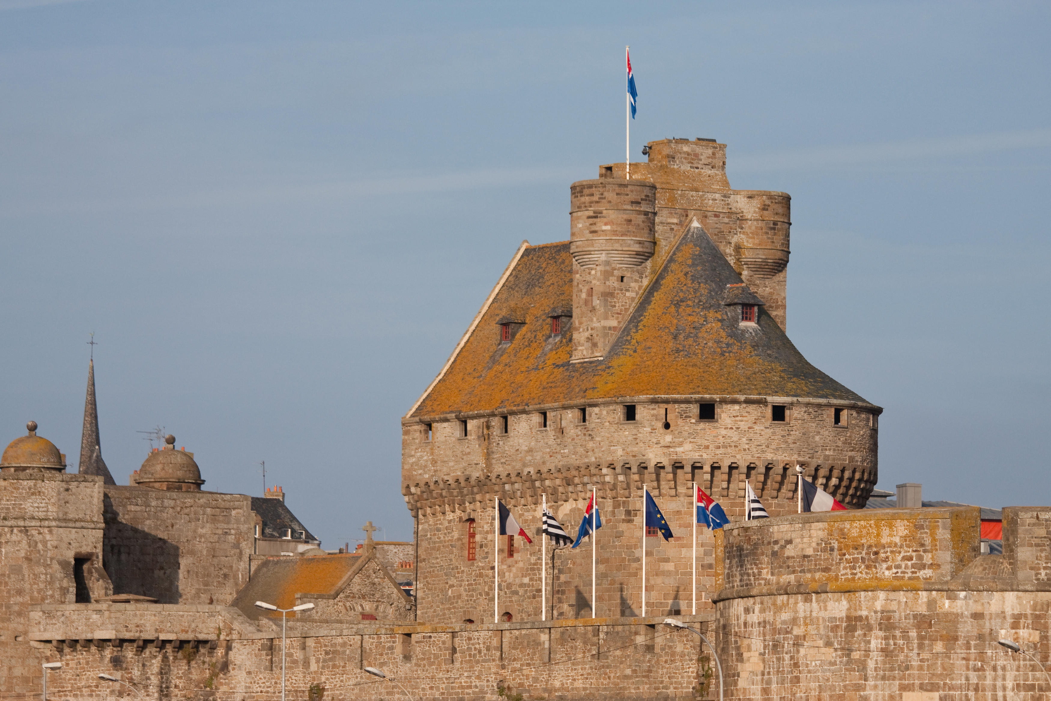 The castle of the fortified city of Saint-Malo, Brittany, France.